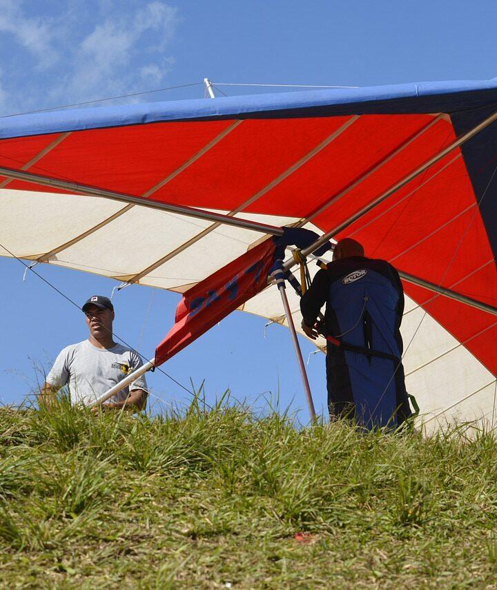 How to make hang gliding at home?